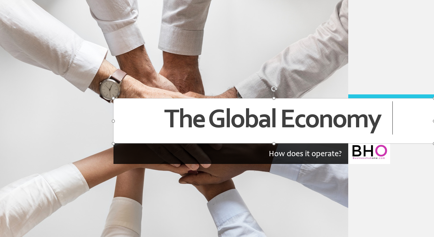 How the global economy operates?