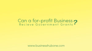 Can a for-profit business receive Government grants